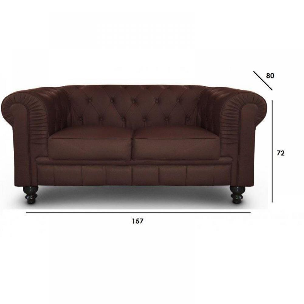 Canap s fixes canap s et convertibles canap fixe chesterfield royal 2 plac - Canape chesterfield 2 places ...