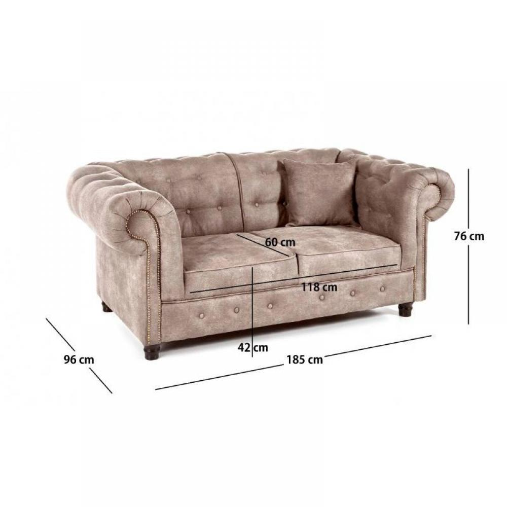Canap s convertibles canap s et convertibles canap fixe 2 places oxford ch - Canape chesterfield beige ...