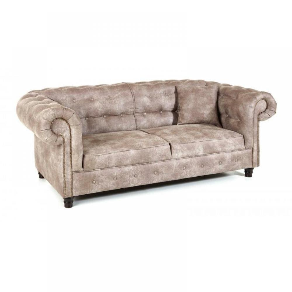 Canap s chesterfield canap s et convertibles canap fixe 3 places oxford ch - Canape chesterfield beige ...