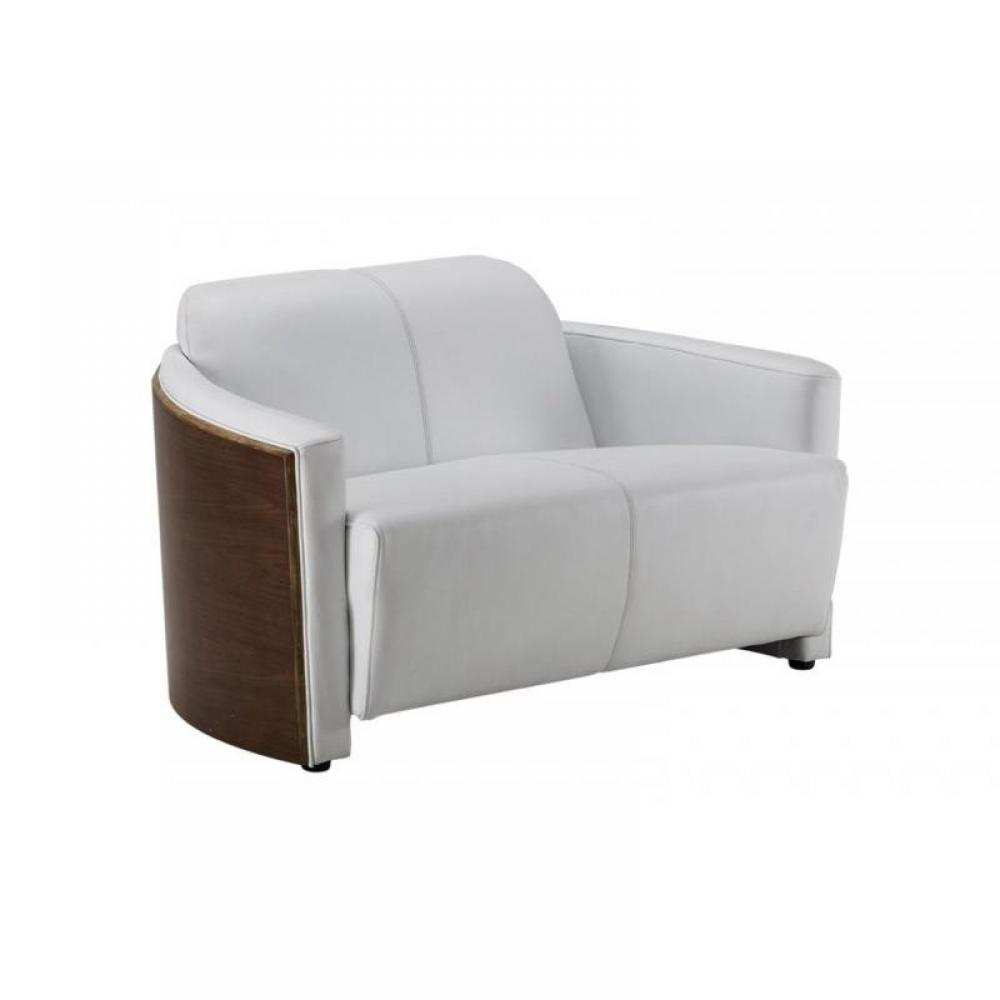 Cuir center canape 2 places blanc convertible aulnay for Canape cuir center