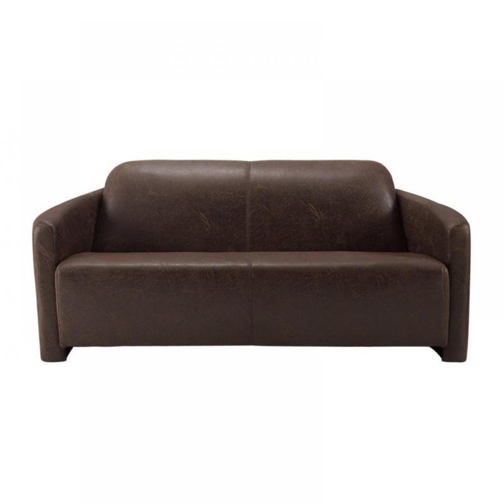 canap s club canap s et convertibles canap club aviateur 3 places en microfibres marron. Black Bedroom Furniture Sets. Home Design Ideas