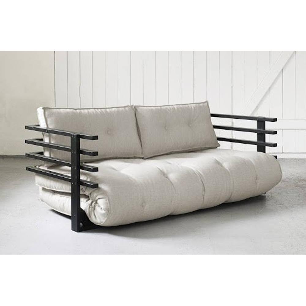 canap s futon canap s et convertibles canap convertible noir funk futon cru couchage 160. Black Bedroom Furniture Sets. Home Design Ideas