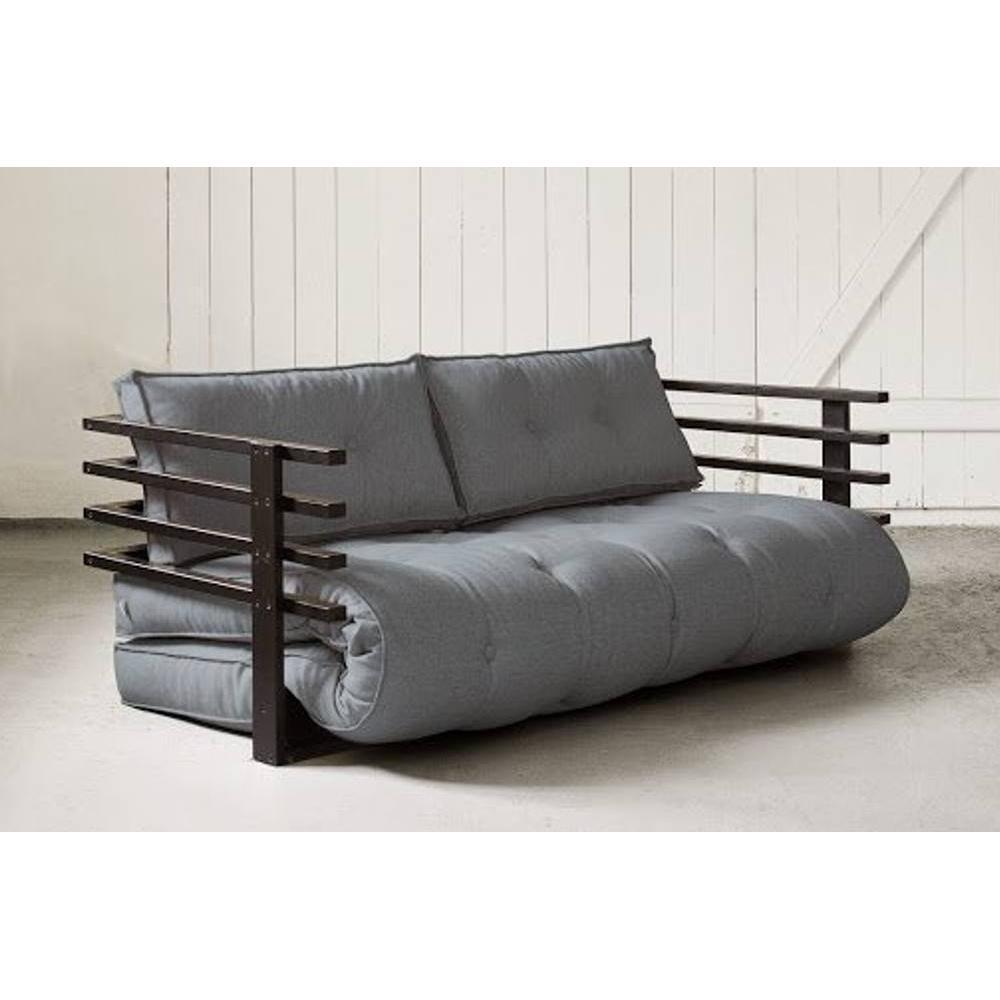 canap s futon canap s et convertibles canap convertible noir funk futon gris couchage 160. Black Bedroom Furniture Sets. Home Design Ideas