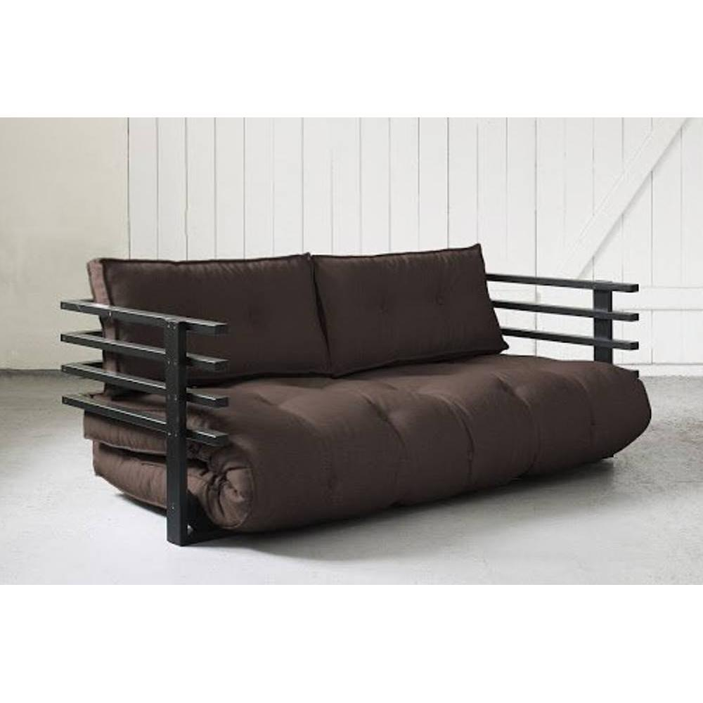 canap s futon canap s et convertibles canap convertible noir funk futon marron couchage 160. Black Bedroom Furniture Sets. Home Design Ideas