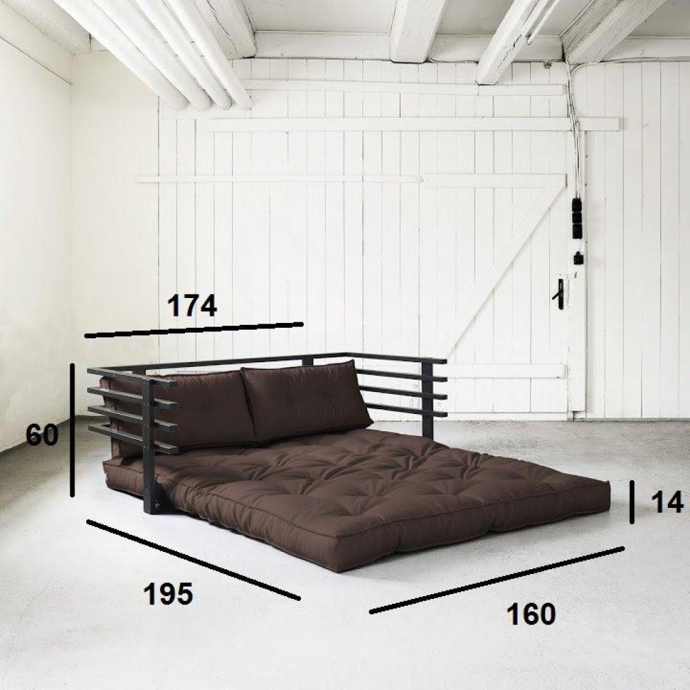 canap s futon canap s et convertibles canap convertible noir funk futon marron couchage 160. Black Bedroom Furniture Sets. Home Design Ideas