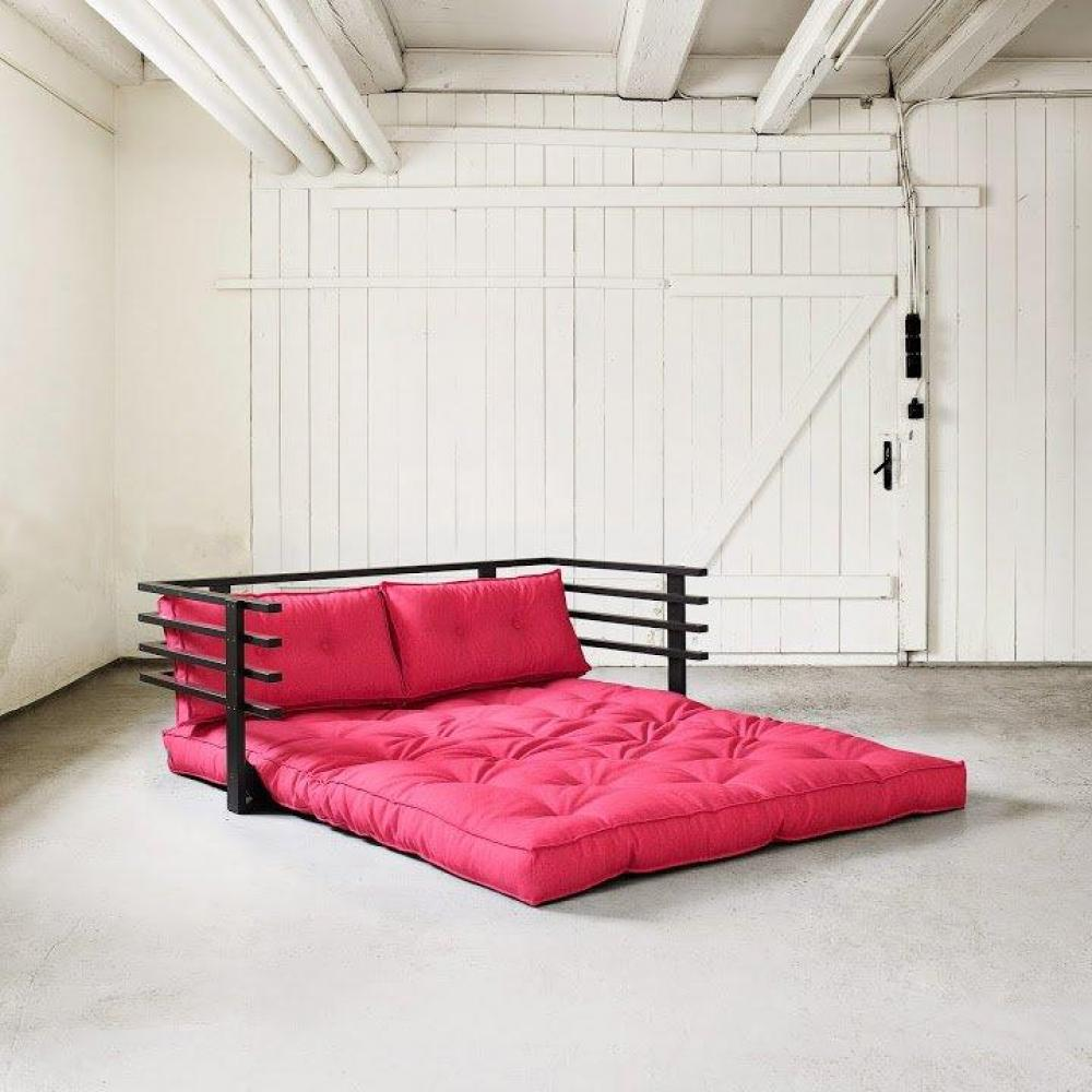 canap s futon canap s et convertibles canap convertible noir funk futon rose magenta couchage. Black Bedroom Furniture Sets. Home Design Ideas