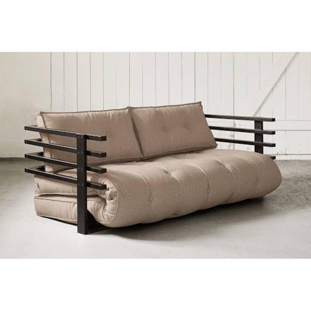 canap s futon canap s et convertibles canap convertible noir funk futon taupe couchage 160. Black Bedroom Furniture Sets. Home Design Ideas