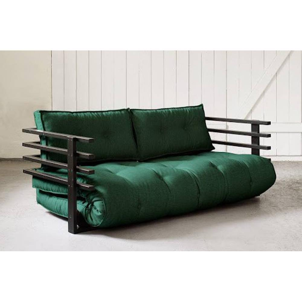 canap s futon canap s et convertibles canap convertible noir funk futon vert couchage 160. Black Bedroom Furniture Sets. Home Design Ideas