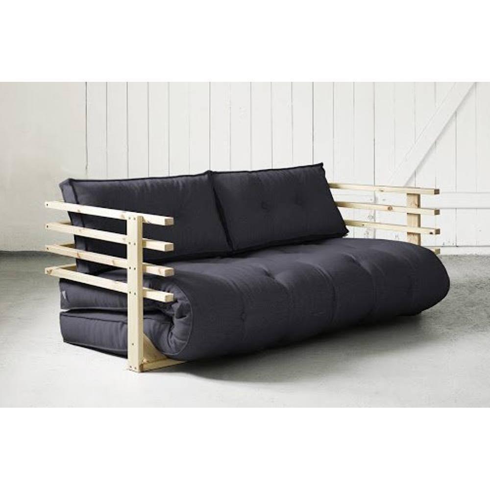 Canap s futon canap s et convertibles canap convertible en pin massif funk - Canape convertible couchage 160 ...