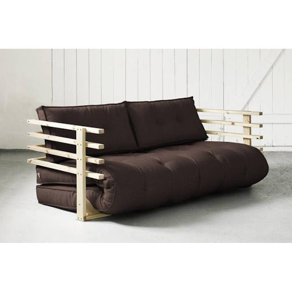 canap s futon canap s et convertibles canap convertible en pin massif funk futon marron. Black Bedroom Furniture Sets. Home Design Ideas