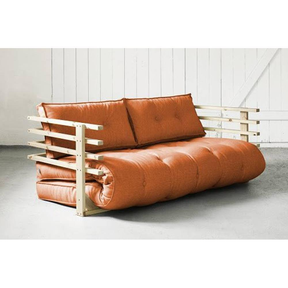 canap s futon canap s et convertibles canap convertible en pin massif funk futon orange. Black Bedroom Furniture Sets. Home Design Ideas