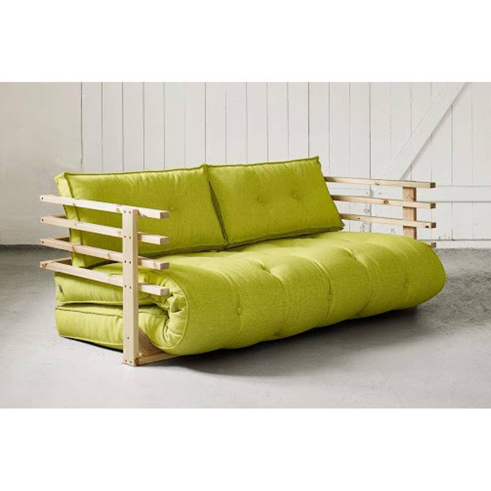 canap s futon canap s et convertibles canap convertible en pin massif funk futon pistache. Black Bedroom Furniture Sets. Home Design Ideas