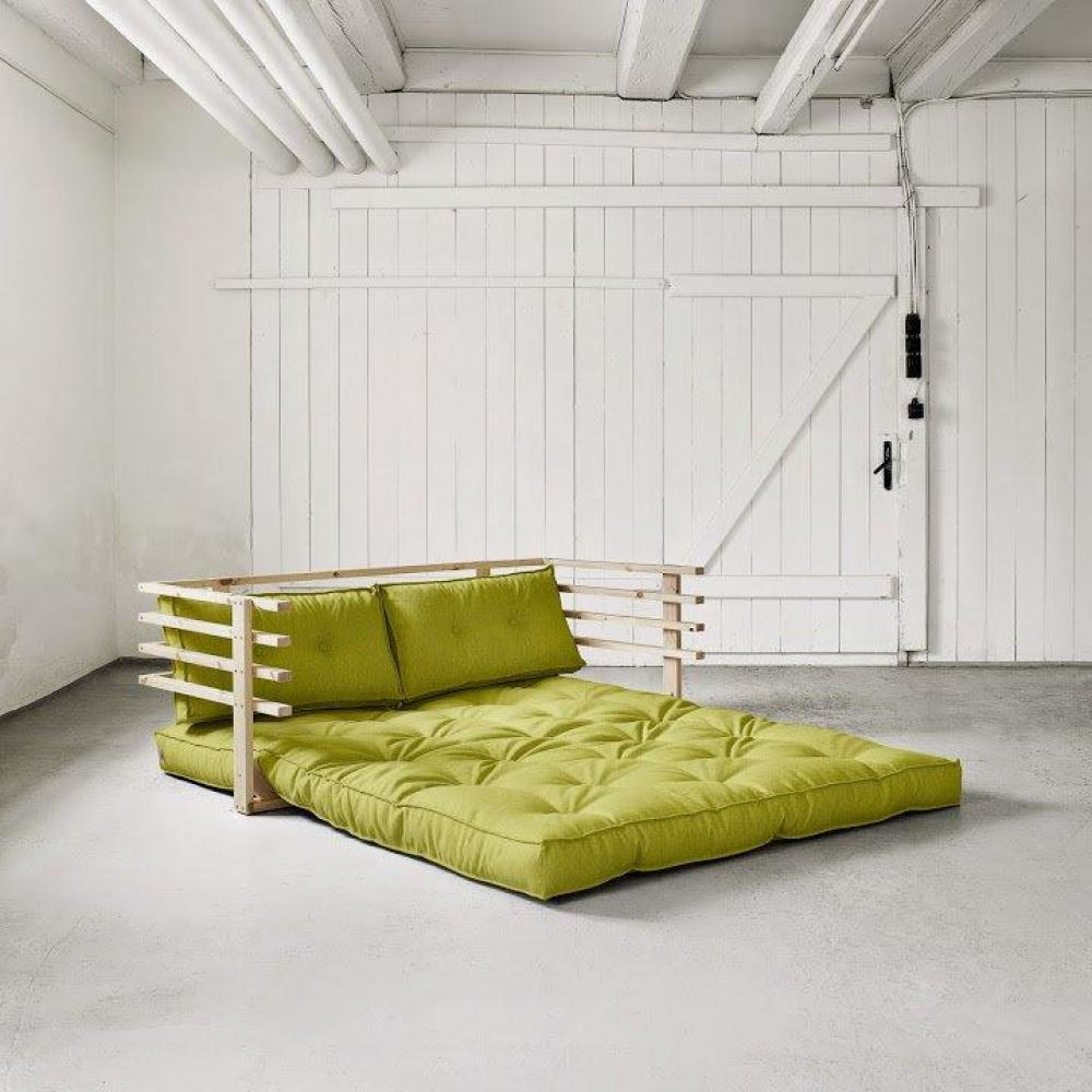 canap s futon canap s et convertibles canap convertible en pin massif funk futon pistache. Black Bedroom Furniture Sets. Home Design Ideas