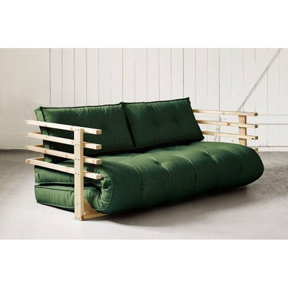 canap s futon canap s syst me rapido canap convertible en pin massif funk futon vert couchage. Black Bedroom Furniture Sets. Home Design Ideas