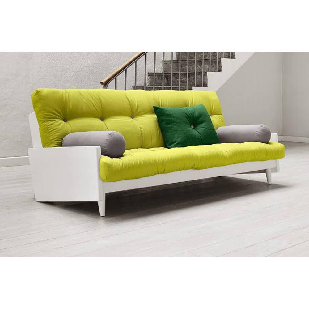 canap s futon canap s et convertibles canap blanc 3 4 places convertible indie futon vert. Black Bedroom Furniture Sets. Home Design Ideas