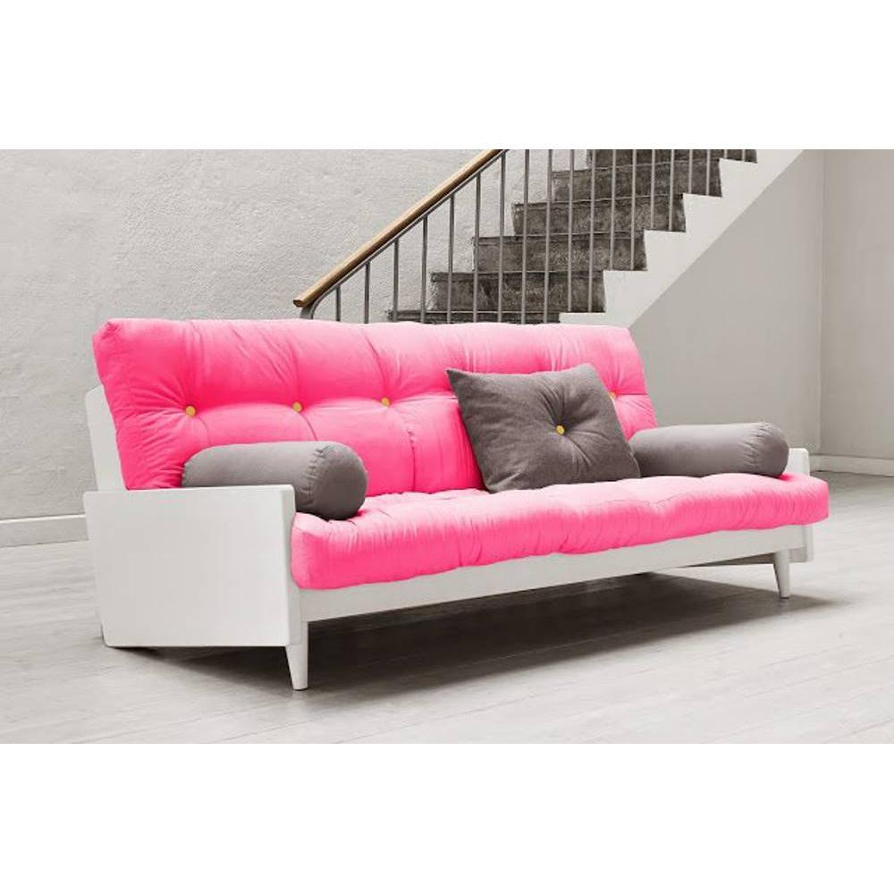 canap s futon canap s et convertibles canap blanc 3 4 places convertible indie futon rose. Black Bedroom Furniture Sets. Home Design Ideas