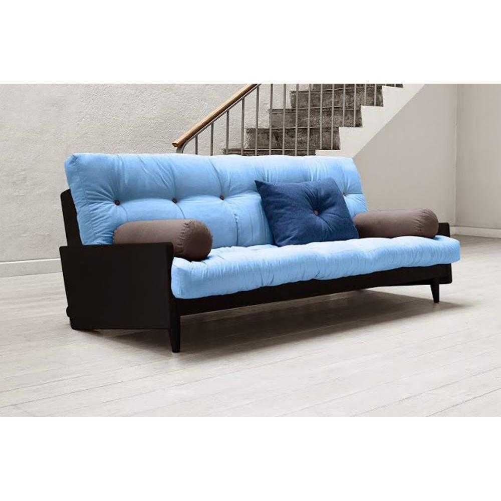 canap s futon canap s et convertibles canap noir 3 4 places convertible indie futon bleu. Black Bedroom Furniture Sets. Home Design Ideas