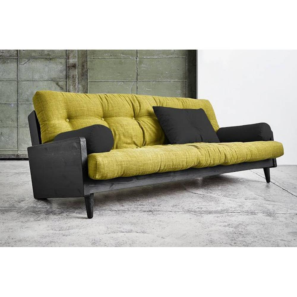 canap s futon canap s et convertibles canap noir 3 4 places convertible indie futon vert. Black Bedroom Furniture Sets. Home Design Ideas