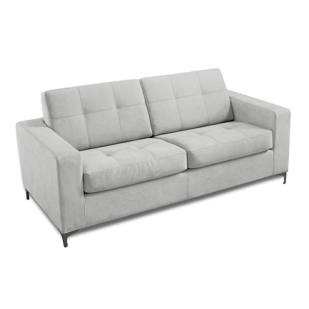 canap infinity convertible ouverture express couchage 142 180 cm cuir eco blanc ebay. Black Bedroom Furniture Sets. Home Design Ideas