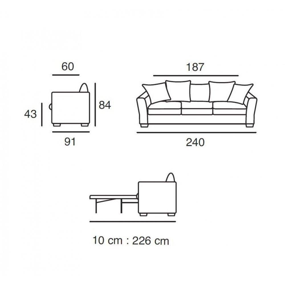 Canape convertible couchage 160 for Couch 160 cm