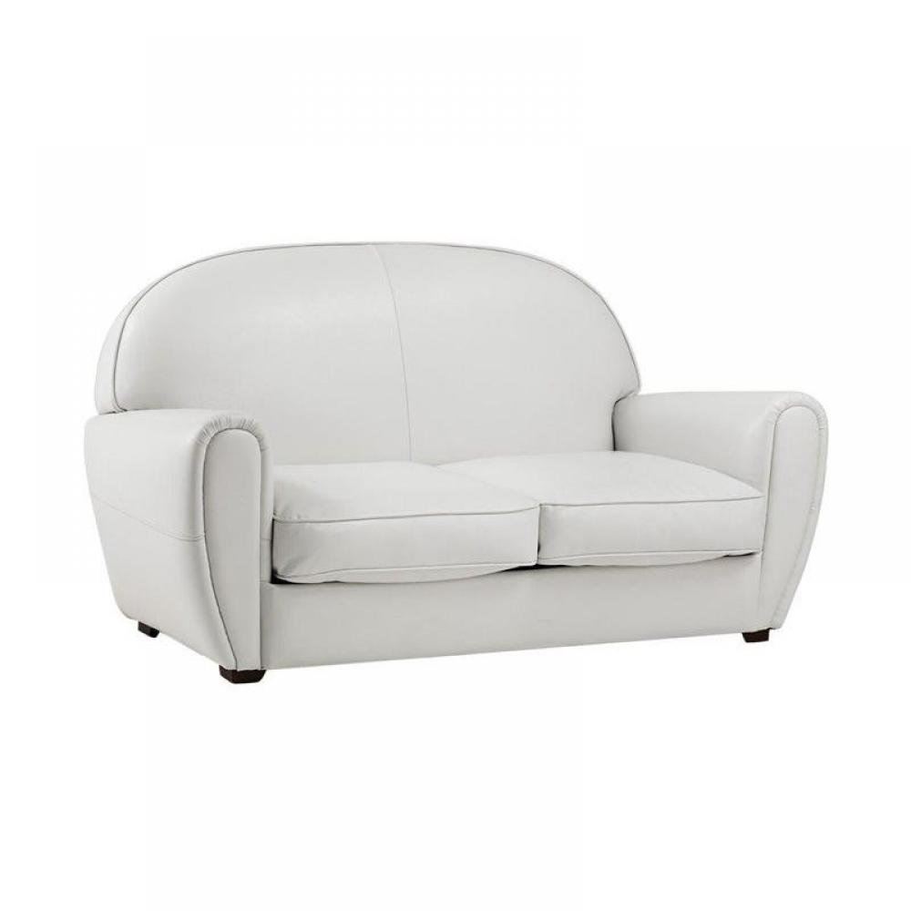 Canap s club canap s et convertibles canap club blanc 2 for Canape cuir 2 place