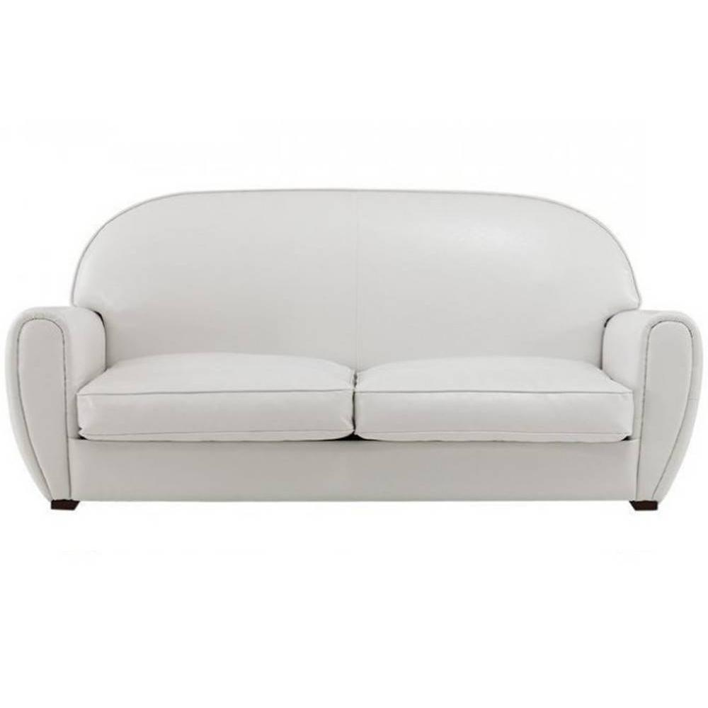Canap s club canap s et convertibles canap club blanc 3 places en cuir rec - Canape made in design ...