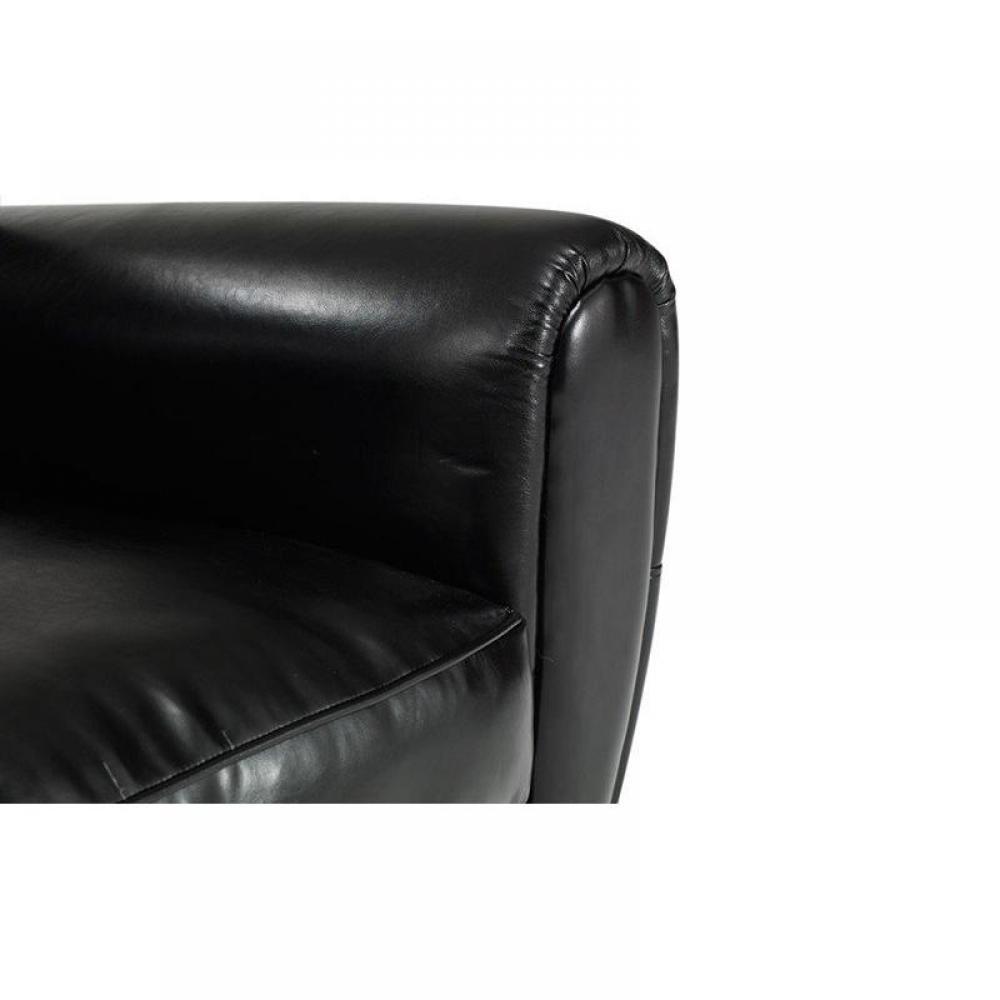 canap s club canap s et convertibles canap club 2 places en cuir recycl noir brillant made. Black Bedroom Furniture Sets. Home Design Ideas
