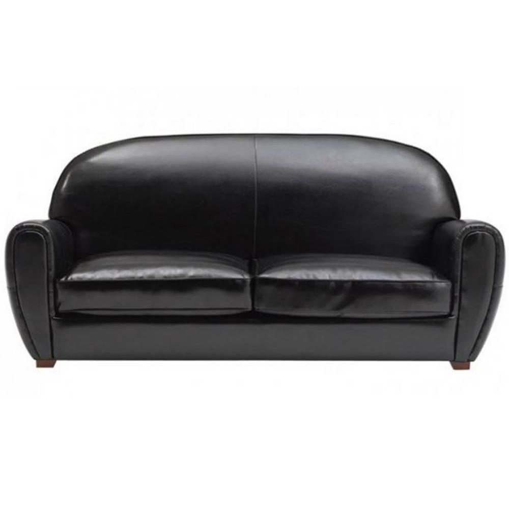 Canap S Club Canap S Et Convertibles Canap Club 3 Places En Cuir Recycl Noir Brillant Made