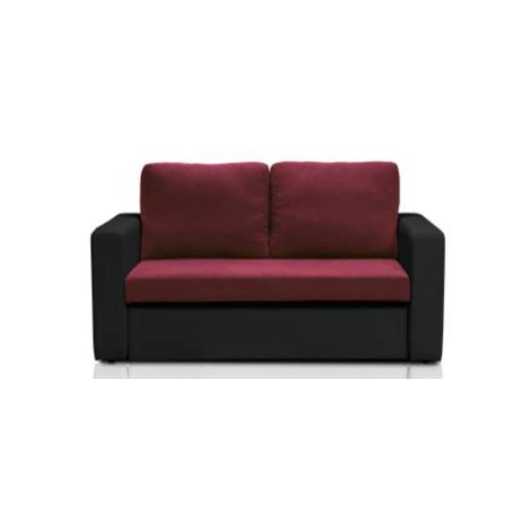 canap s fixes canap s et convertibles canap fixe janus 2 places bi mati re prune et noir. Black Bedroom Furniture Sets. Home Design Ideas