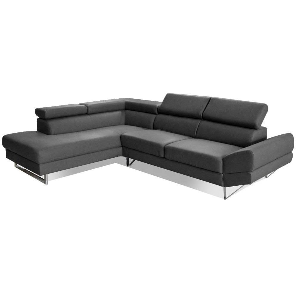 canap s d 39 angle canap s et convertibles canap d 39 angle gauche fixe venise cuir co graphite. Black Bedroom Furniture Sets. Home Design Ideas
