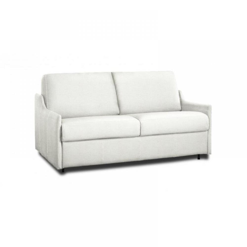 canap fixe luna 2 3 places cuir blanc ebay. Black Bedroom Furniture Sets. Home Design Ideas
