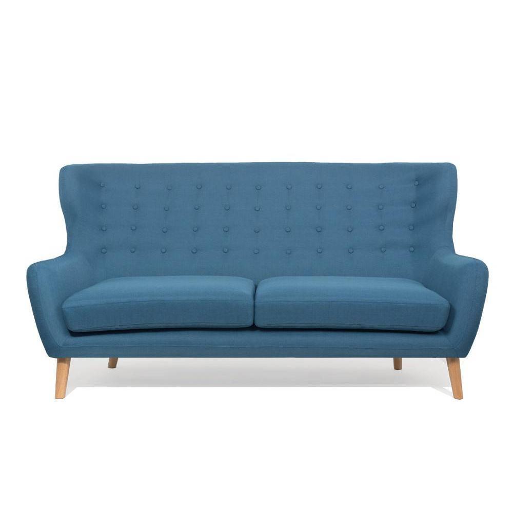 canap s fixes canap s et convertibles canap scandinave perfekt 3 places bleu azur inside75. Black Bedroom Furniture Sets. Home Design Ideas