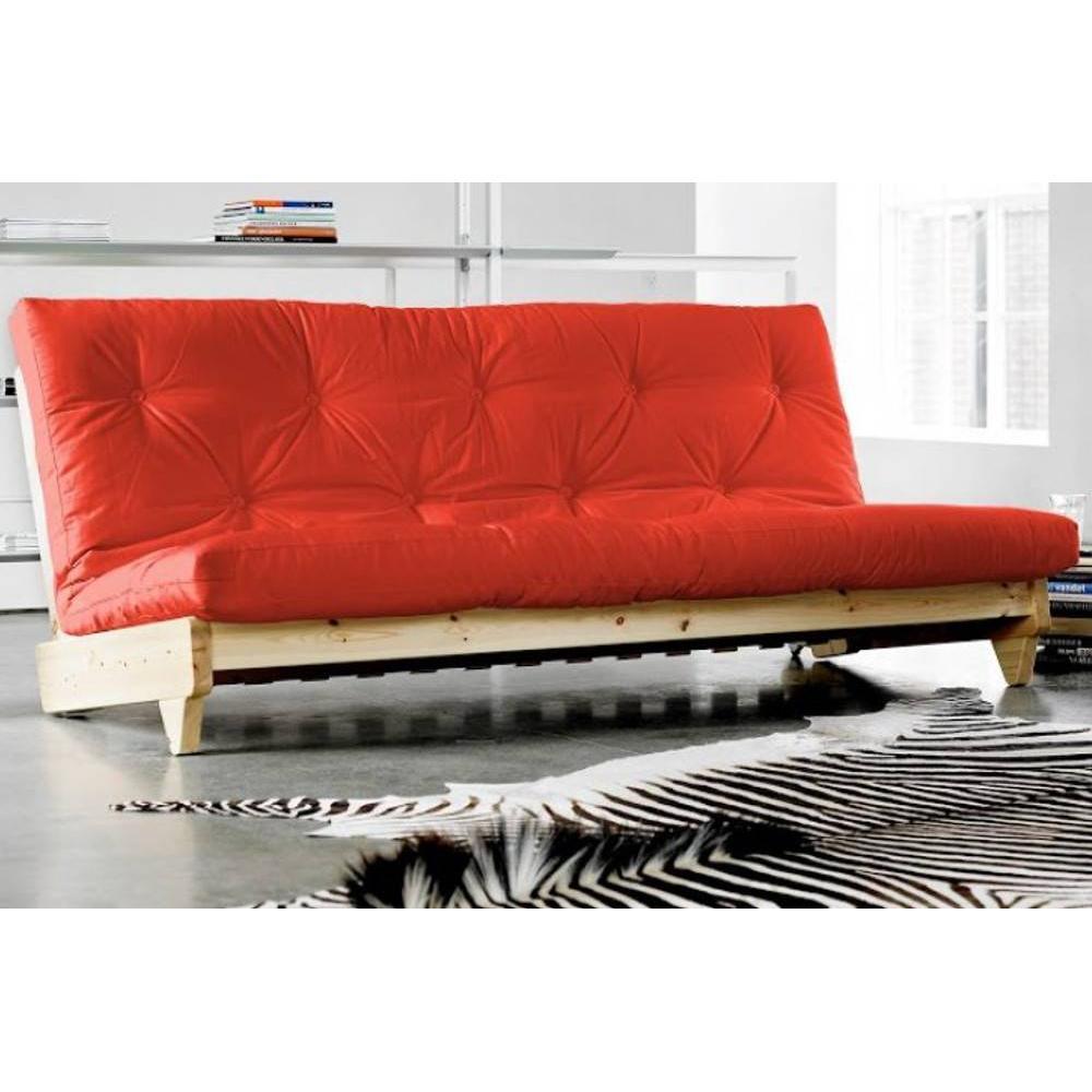 Canap s futon canap s et convertibles banquette lit futon rouge fresh 3 pla - Canape futon convertible ...