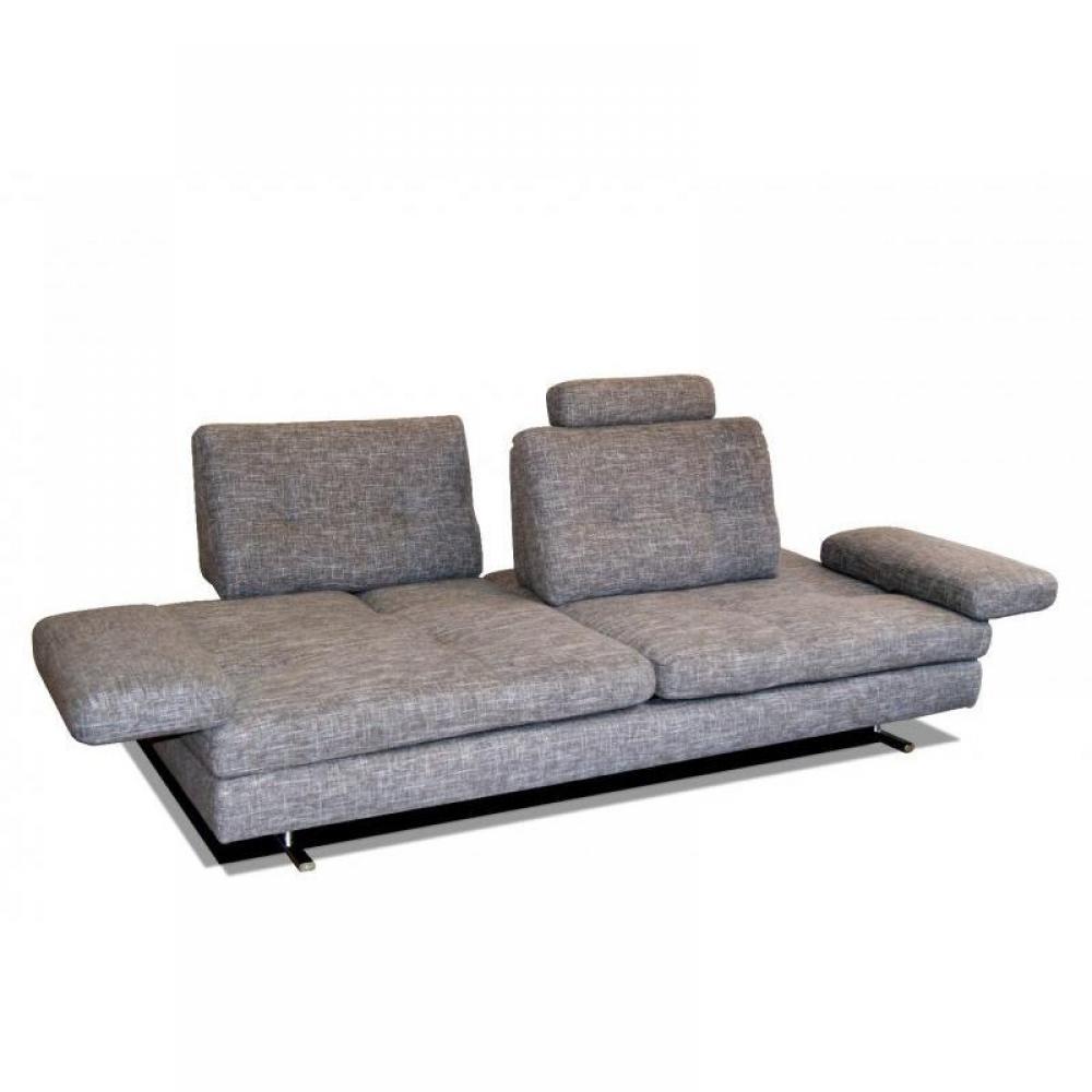 Canap s fixes et fauteuils canap haut de gamme italien venere 3 5 places venere2 de tissu gris - Canape haut de gamme tissu ...