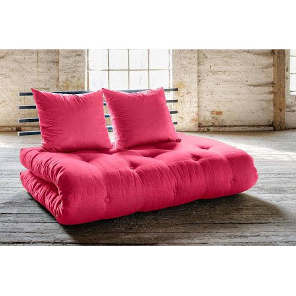 canap s futon canap s syst me rapido canap lit noir shin sano futon rose magenta couchage 140. Black Bedroom Furniture Sets. Home Design Ideas