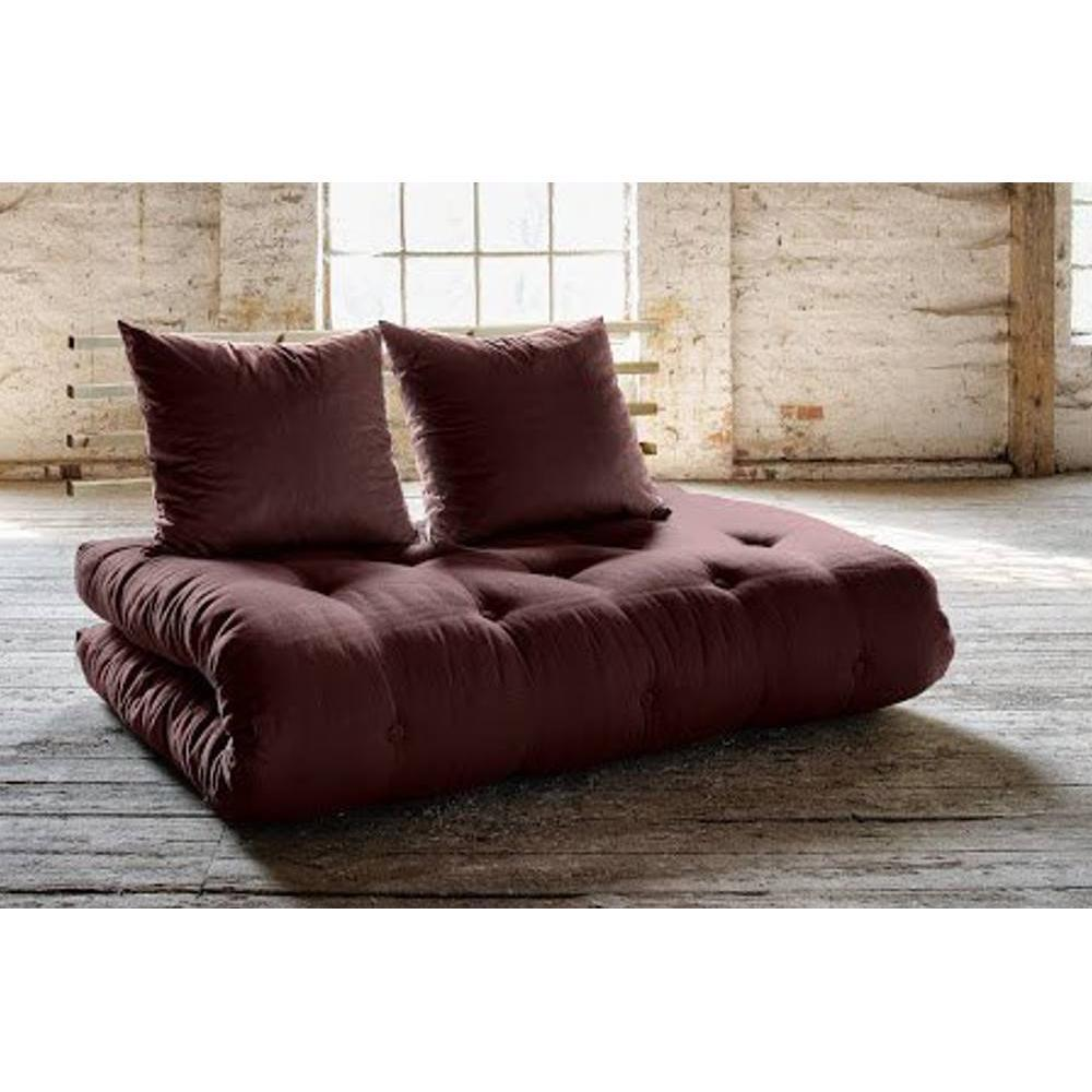 canap s futon canap s et convertibles canap lit en pin massif shin sano futon marron couchage. Black Bedroom Furniture Sets. Home Design Ideas