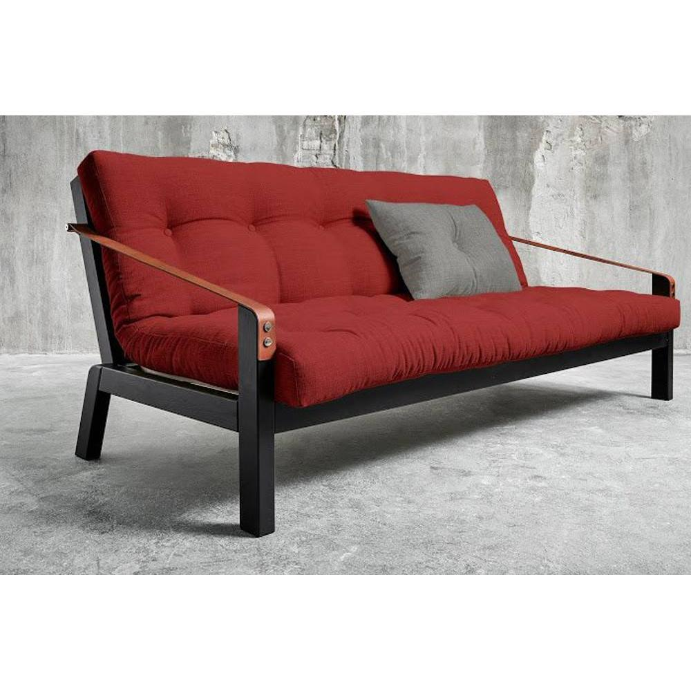 canap s futon canap s et convertibles canap noir 3 4 places convertible poetry futon rouge. Black Bedroom Furniture Sets. Home Design Ideas