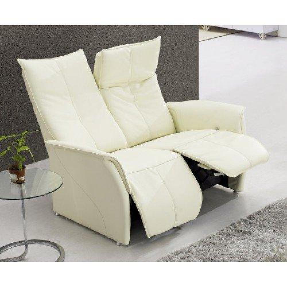 Canap s relax canap s et convertibles premium canap relax cuir vachette b - Canape cuir blanc relax ...