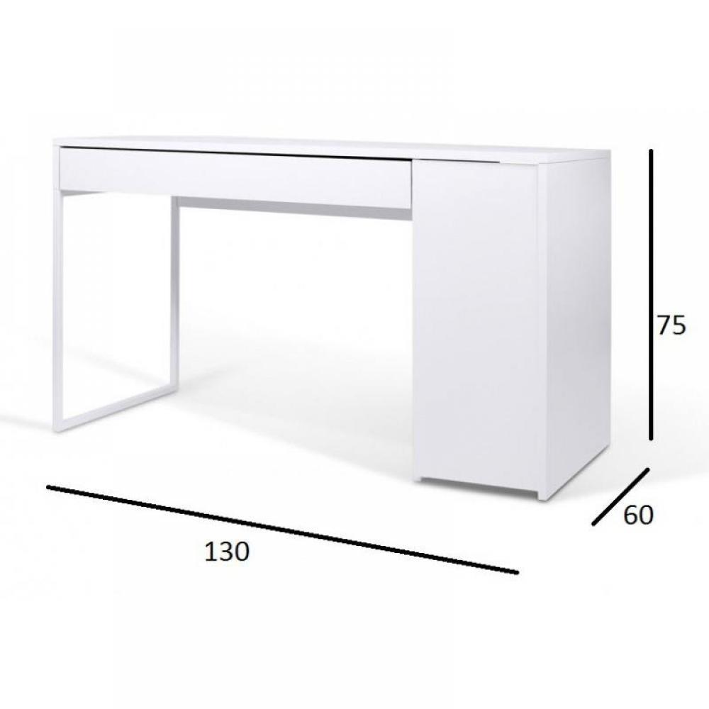 Bureaux meubles et rangements temahome prado bureau - Bureau design laque blanc ...