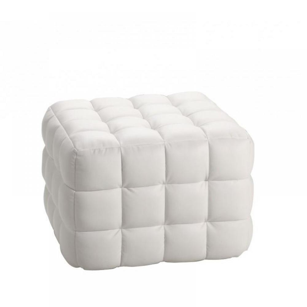 fauteuils et poufs canap s syst me rapido pouf design capiton blanc inside75. Black Bedroom Furniture Sets. Home Design Ideas