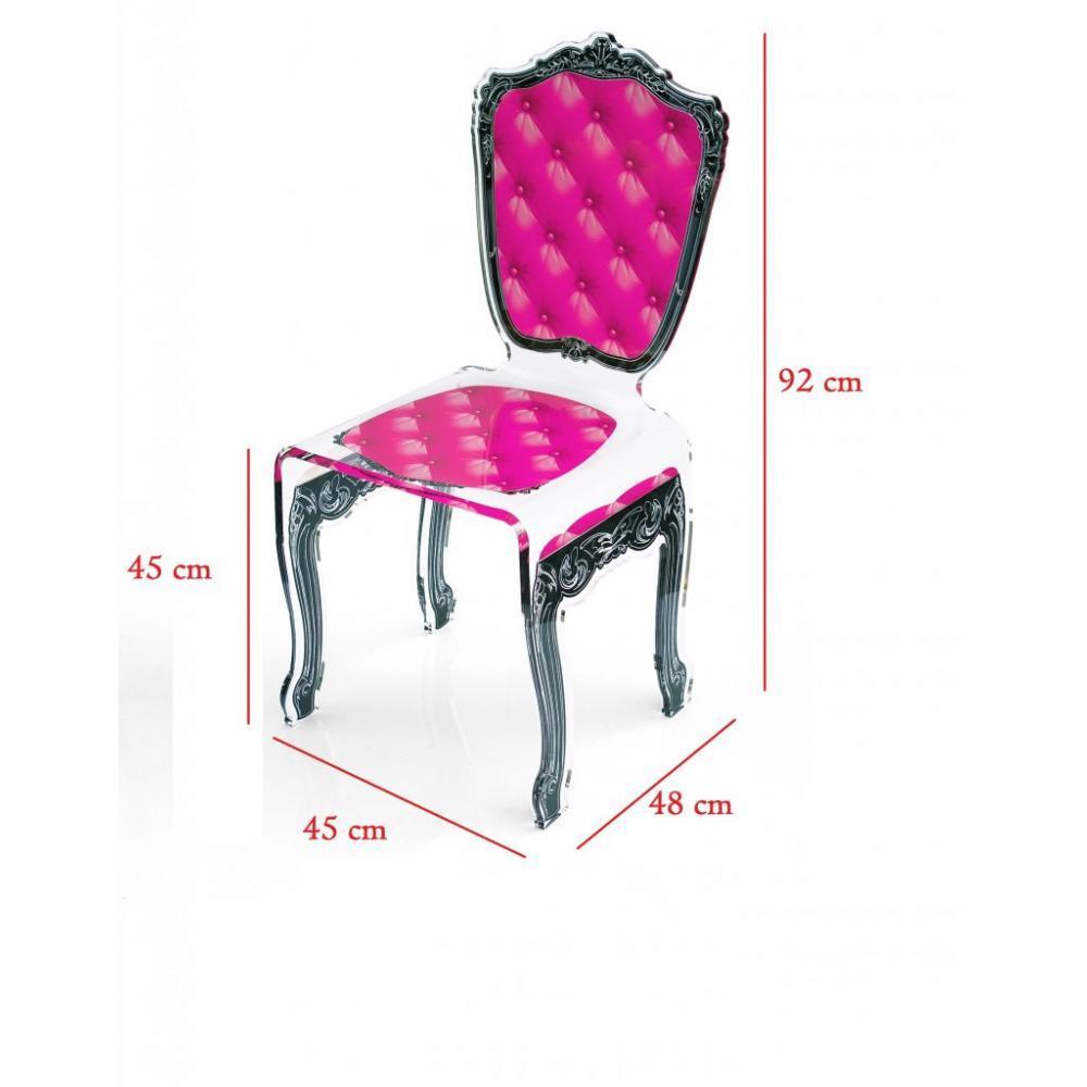 Chaises tables et chaises capiton chaise en plexi rose for Chaise plexiglass design