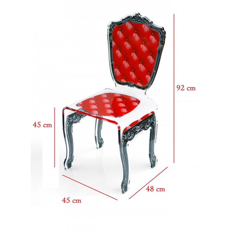 chaises tables et chaises chaise capiton rouge plexiglass design acrila inside75. Black Bedroom Furniture Sets. Home Design Ideas