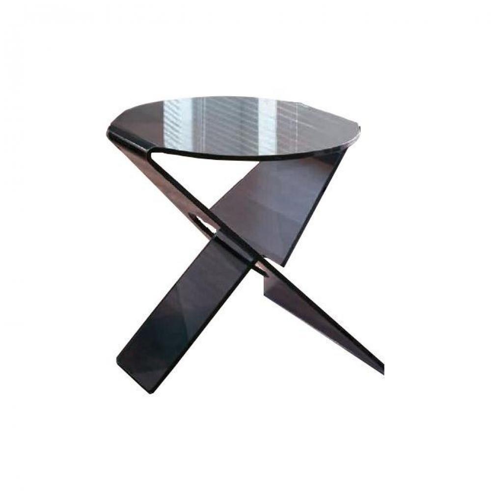 Bouts de canapes meubles et rangements celia bout de - Table basse verre fume ...