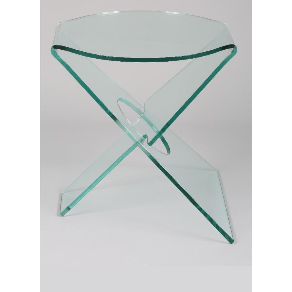 Bouts de canapes meubles et rangements celia bout de canap en verre transp - Table bout de canape en verre design ...