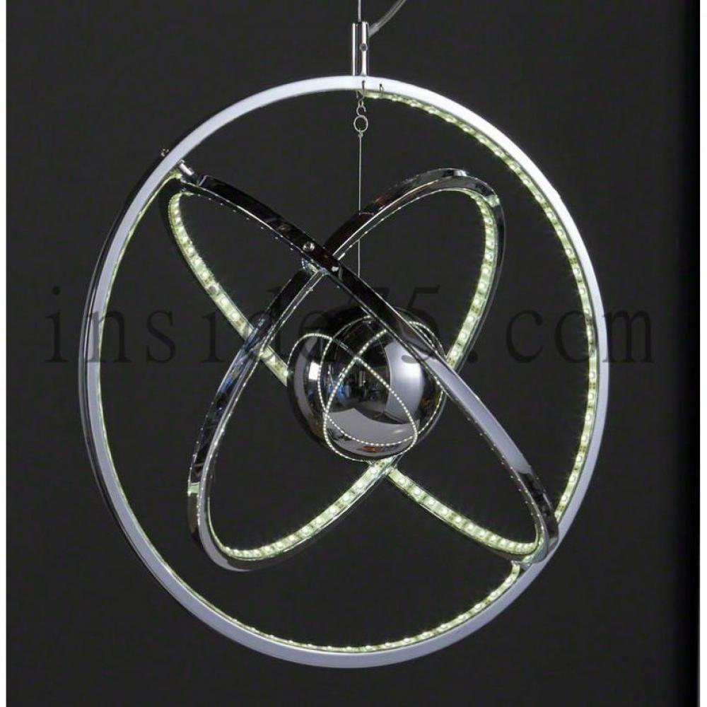 Cercle lustre multi leds suspendu place du mariage for Lustre suspendu design