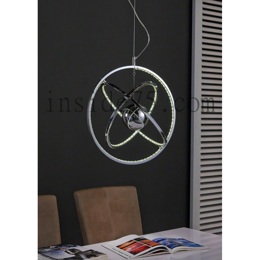 Lampes suspension design cercle multi leds for Suspension multi lampes