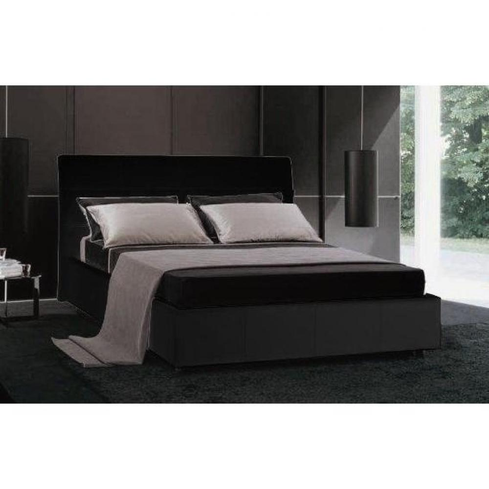 lits coffres chambre literie lit coffre design cesare couchage 2 personnes 160 200cm en cuir. Black Bedroom Furniture Sets. Home Design Ideas