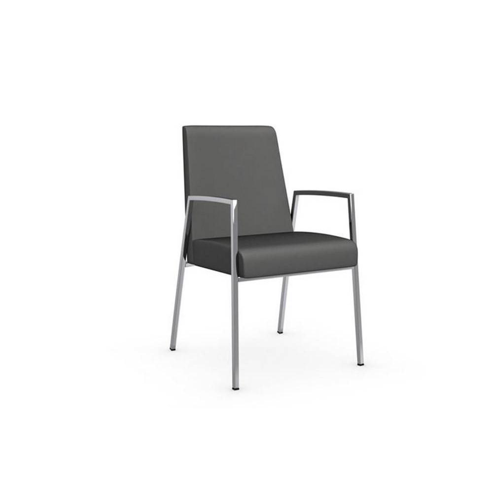 chaises tables et chaises calligaris chaise amsterdam avec accoudoirs structure acier chrom. Black Bedroom Furniture Sets. Home Design Ideas