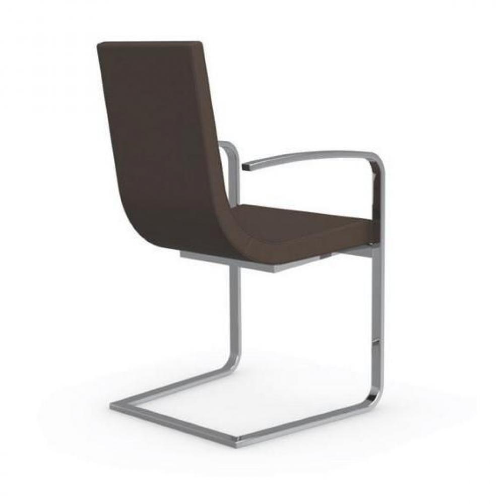 chaises tables et chaises calligaris cruiser chaise haut de gamme avec accoudoirs assise cuir. Black Bedroom Furniture Sets. Home Design Ideas