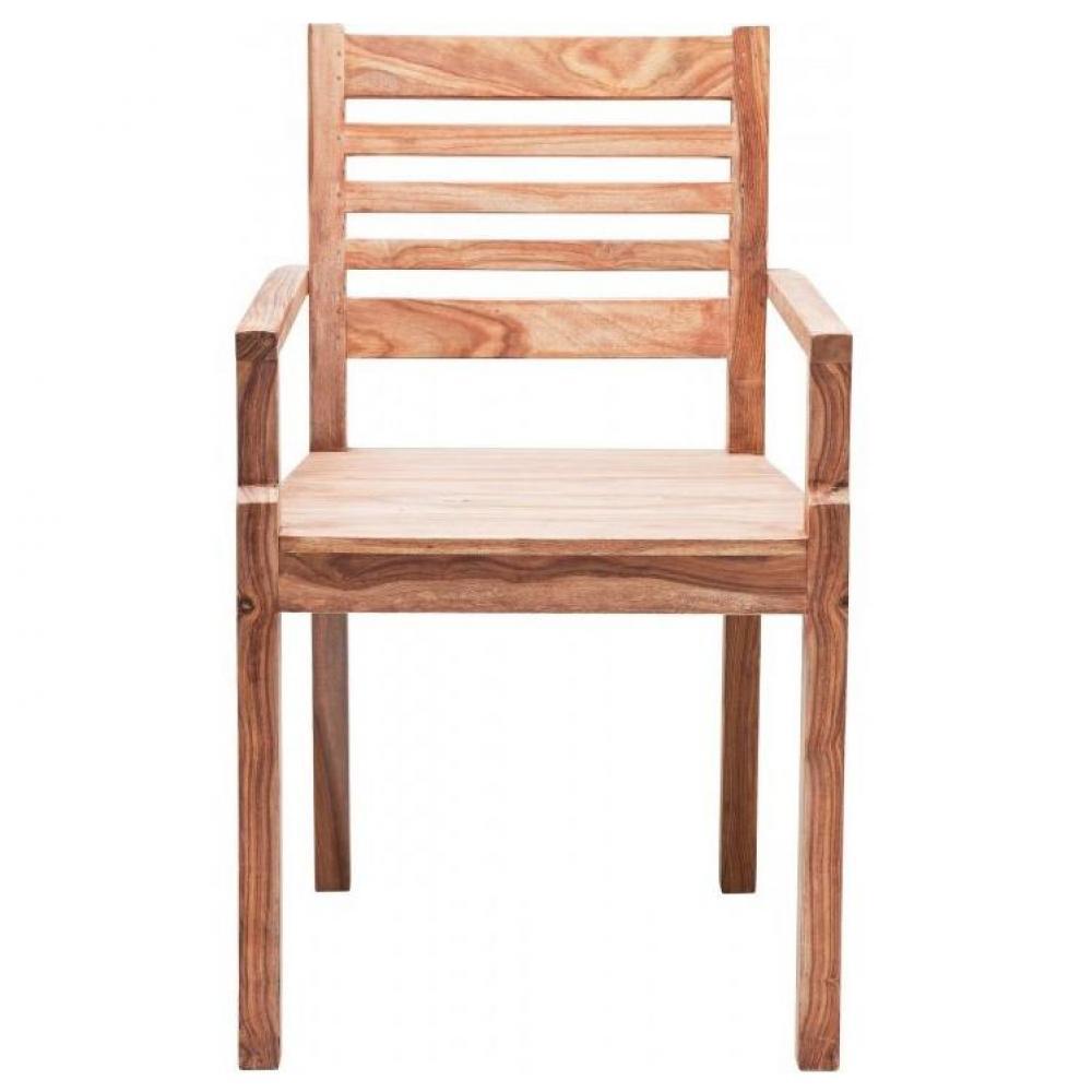 chaises meubles et rangements wild chaise avec accoudoirs en bois massif inside75. Black Bedroom Furniture Sets. Home Design Ideas